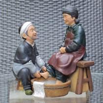 老人生日礼物实用家居摆设金婚礼物婚庆创意装饰品树脂工艺品摆件