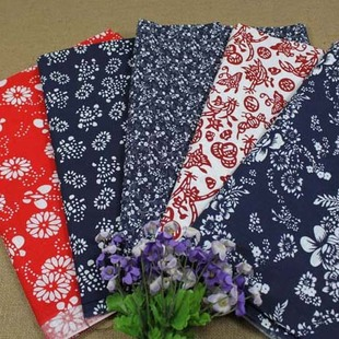 All cotton cloth fabric flower blue cloth blue cloth curtain cloth tablecloths teahouse upholstery