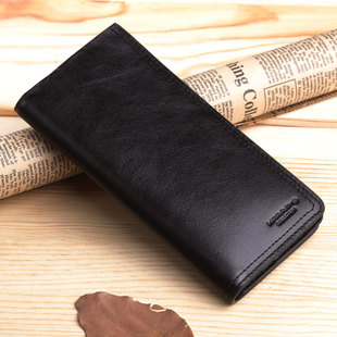 HARRM S long section of genuine male money male money men wallet cowhide leather buckle money