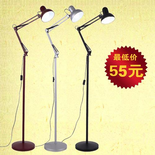 Американский маджонг лампа длинные руки торшер спальня европейских современных вертикальных исследование прикроватные лампы IKEA гостиной настольная лампа