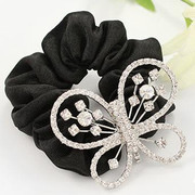 G015 good jewelry-hair jewelry made by Korean Korea retro flower butterfly rope end