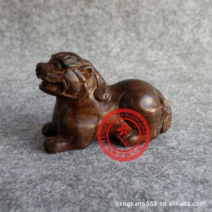 Red rosewood carved mahogany carving crafts Decoration brave little animal small pieces of interior furnishings accessories Decoration
