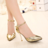 2016 sexy high noble shoes wedding night club gold silver as a princess
