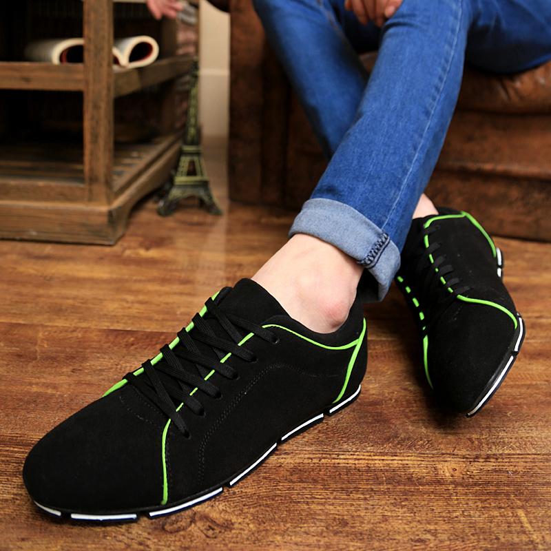 2015 весенний ветер Корейский Мужская повседневная обувь спортивная обувь Англии Вудс загиба молодежной тенденции нубука обувь