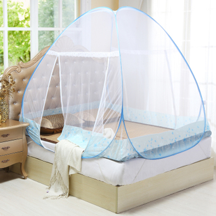 Mongolia dome mosquito nets free installation of stainless steel folding cloth nets mosquito nets zipper