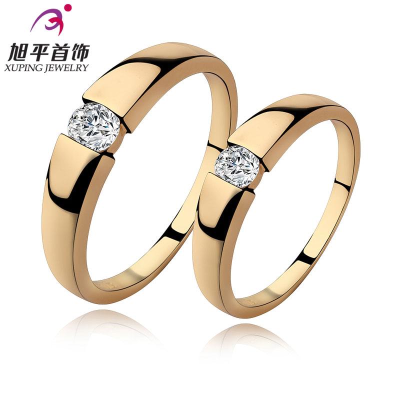 Искусственный камень любителей xuping Бижутерия 18K позолоченные кольцо простые кольца для мужчин и женщин Сладкая Страна