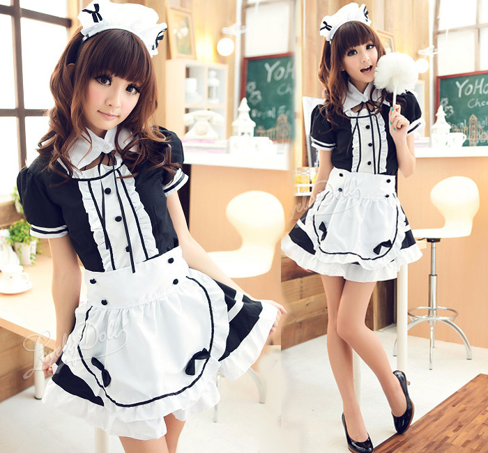 Akihabara maid cosplay clothes black and white dress COS light tone Maid costumes Anime Cosplay Costumes uniform temptation  sc 1 st  BuyChina.com & Akihabara maid cosplay clothes black and white dress COS light tone ...