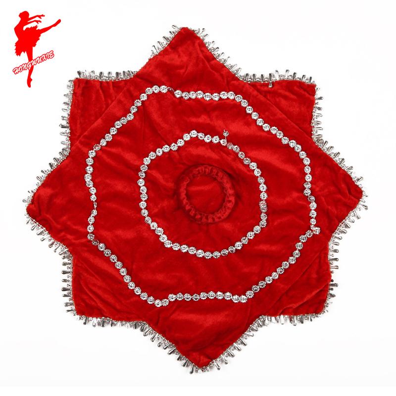 Красный обувь саженец песня к северо-востоку два поворот танец рука шелк специальность восьмиугольный полотенце танец носовой платок танцы реквизит рука шелк цветок
