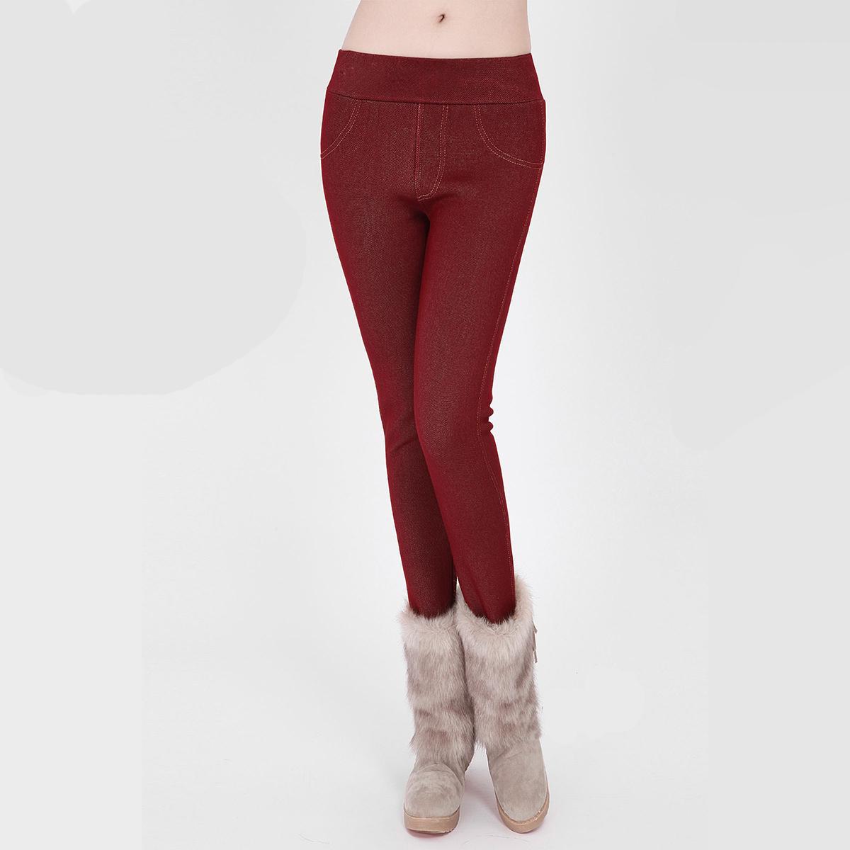 Ян осень новый пьяные красоты плюс плюшевые теплые леггинсы женщин корейской версии тонкий свинца моды леггинсы джинсы женщин