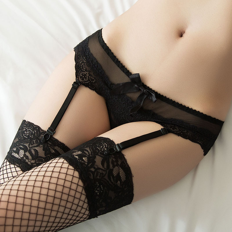 Hot European and American fans pupil lace suspenders sexy stockings garters suit sexy underwear thong one