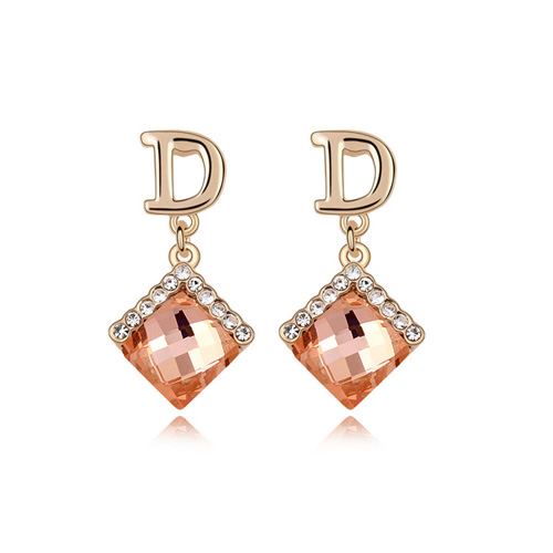[Sisi beads] gold plated D Square Earrings in four colors