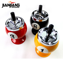 Jianjiang Athletes Creative Billiards ashtray High ball Room club Spherical decorative Gifts