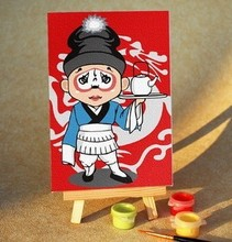 Ugly 10 x 15 cm diy digital painting Special offer the child draws the Hand-painted oil painting diy gift gift furnishing articles