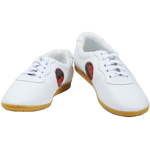 Genuine soft leather tendon at the end of men and women martial arts shoes tai chi yin and yang fish shoes practice shoes kung fu shoes