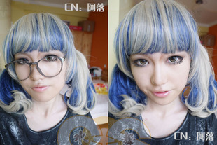 Water Dance Wigs / wig accessories harajuku style ayumi mani pear head hair streaked color gradient color personality Wigs / wig accessories