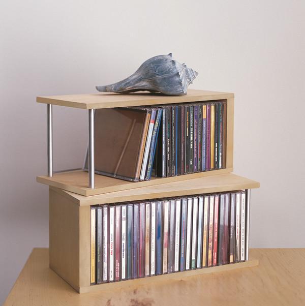 Деревянные CD / DVD-столы Настольный накопитель для хранения Декоративный дисплей в рамке