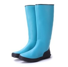 Ms exports, Japan and South Korea temperament pure color tall canister boots shoes/shoes/rain/water