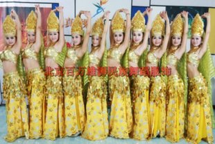 Indian dance clothing belly dance opening dance costume dress costumes performance clothing foreign national costumes