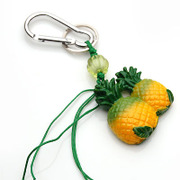 Smiling pineapple hung super cute Keychain Korean fashion ornaments accessories jewelry pendant 351756