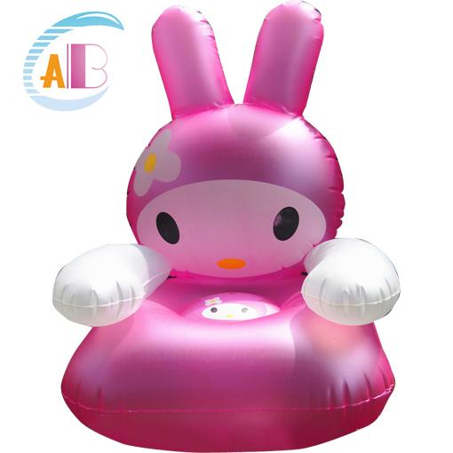 ABC 小兔子兒童沙發 充氣沙發 寶寶坐椅 充氣凳子玩具 加厚可愛
