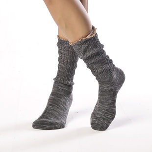 Pair Spring and summer are exported to Japan Mori Mori Department of female style cotton knit lace small piles of socks