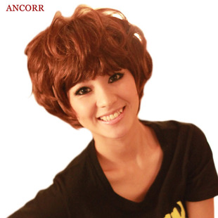 Encore children omelets short hair wig Liu Qi fluffy wig short hair female fashion hairstyle explosive