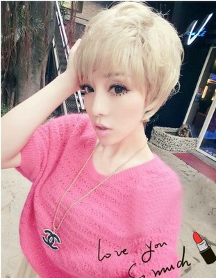 Ms Fluffy White Hair Wig Wig Anime Cosplay Handsome M White Short