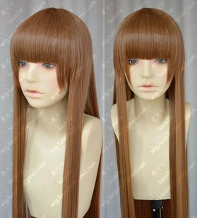 Not broken flower Tomb Huo Xiuxiu Wan Gu Yu Li plain brown one meter thick straight hair cos wig