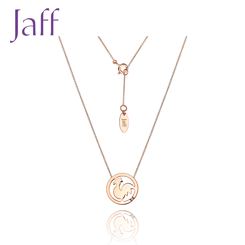 18K Gold Diamond Necklace zodiac series chicken / Necklace (please consult customer service for details)