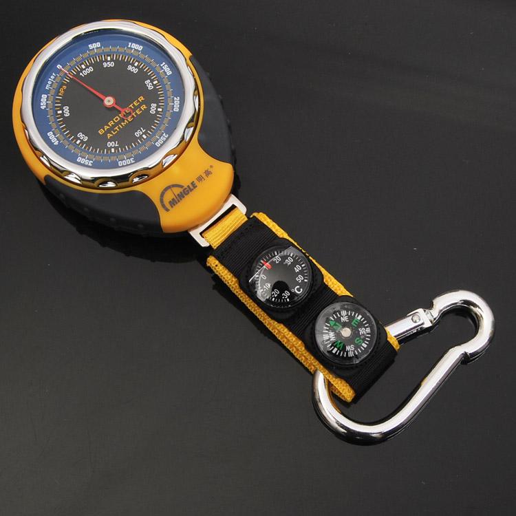 户外 海拔表 气压计温度计指南针 便携多用途登山常备装备 高度计
