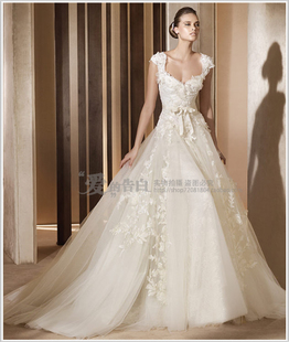 European and American wedding dress 2014 latest Korean royal wedding upscale wedding dress lace wedding dress in Europe and America Edition
