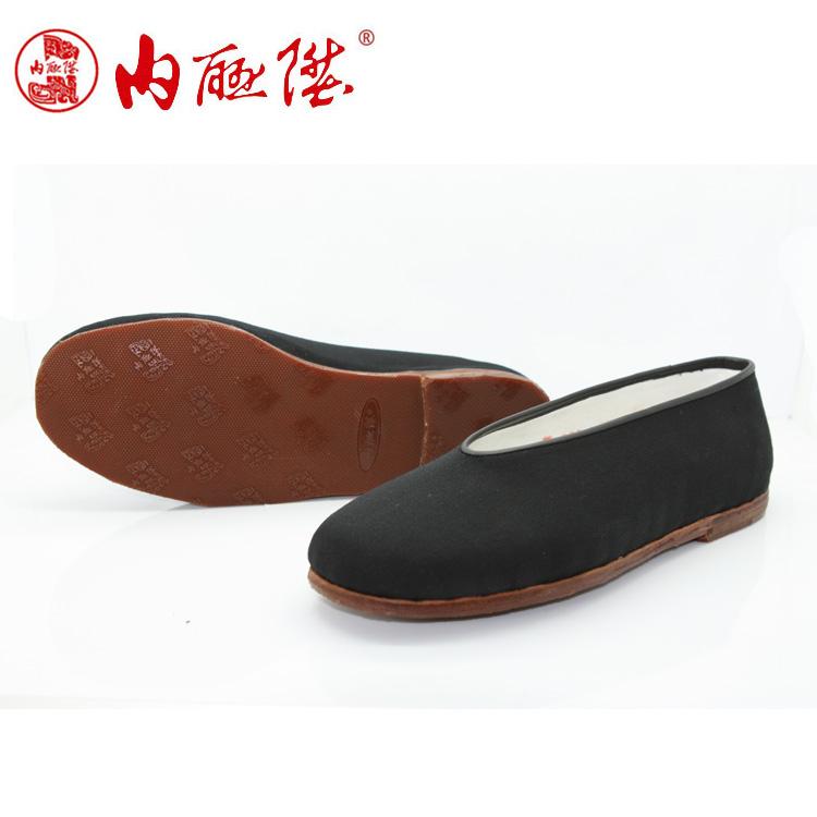 老北京布鞋男圆口
