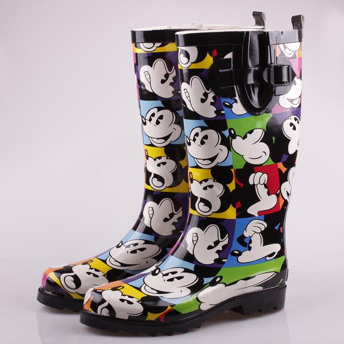 Экспорт Микки взрослых сапоги женщин мода картины дождя сапоги дамы сапоги дождь загрузки взрослых