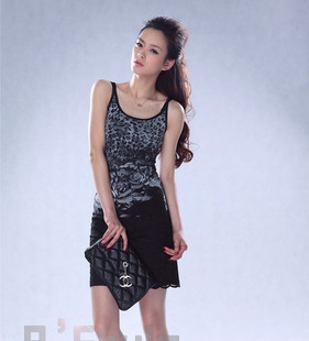 Month Shop counters authentic women summer over the United States rose sexy leopard vest harness G30113