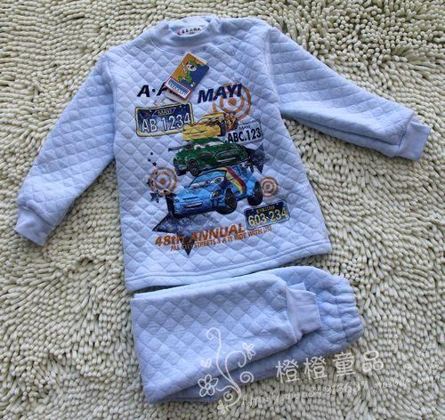 正品保暖内衣小蚂蚁纯棉儿童套装家居服 多图男童110-150清货