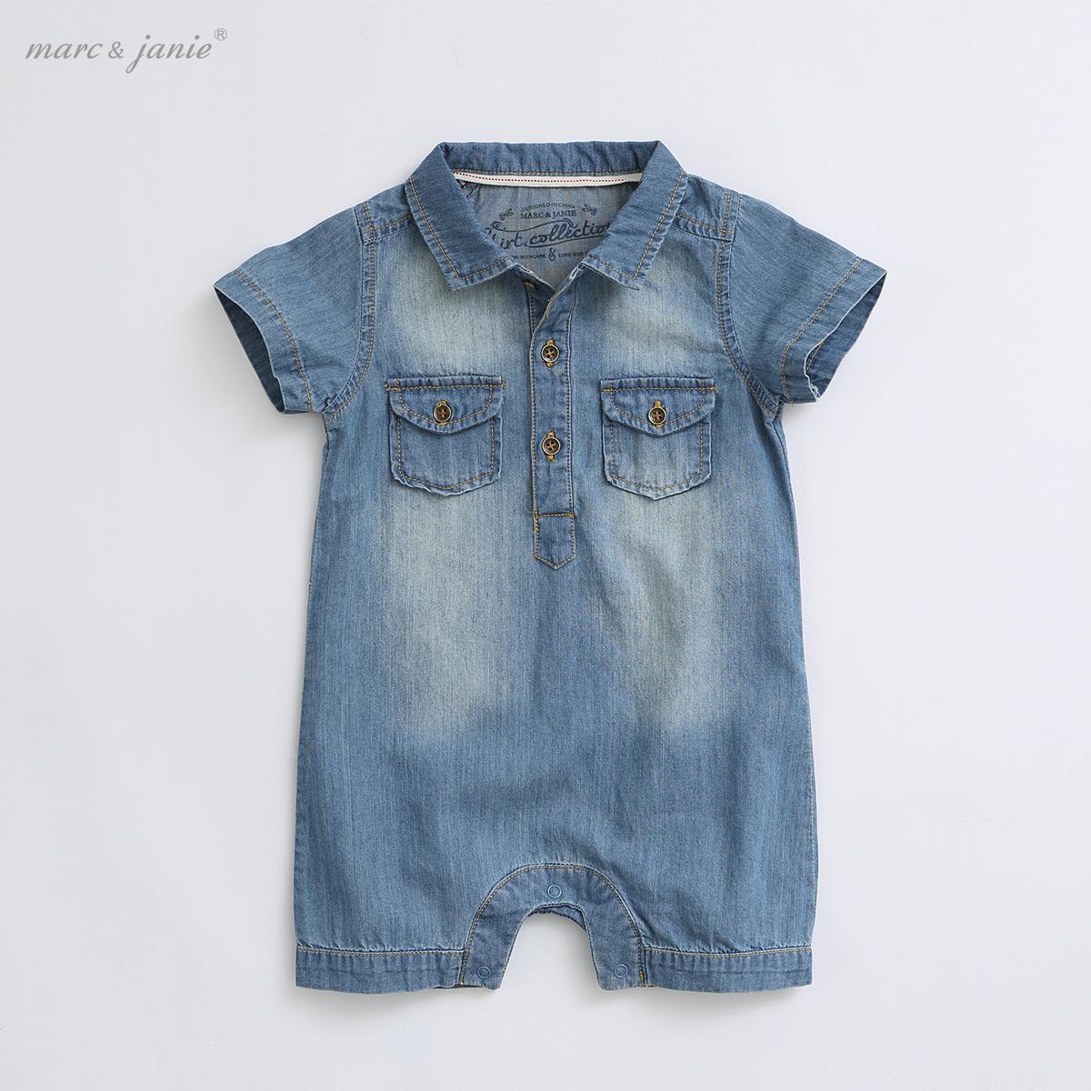 Makezhenni Детская одежда мягкой джинсовой ткани младенца один кусок младенца romper одежда хлопок детское платье MJ13099