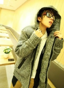 Aberdeen favorite Korean version of the thick section big sweater cardigan coat plus fluff WS20 big back big price cuts P85