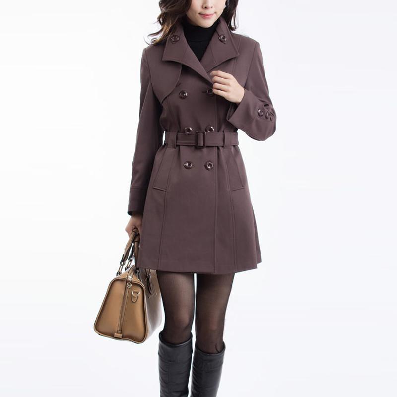 Плащ женский 2015 осени новые осень в корейской версии тонкий длинный плащ среднего Осенний ветер куртки женщин плюс размер одежды