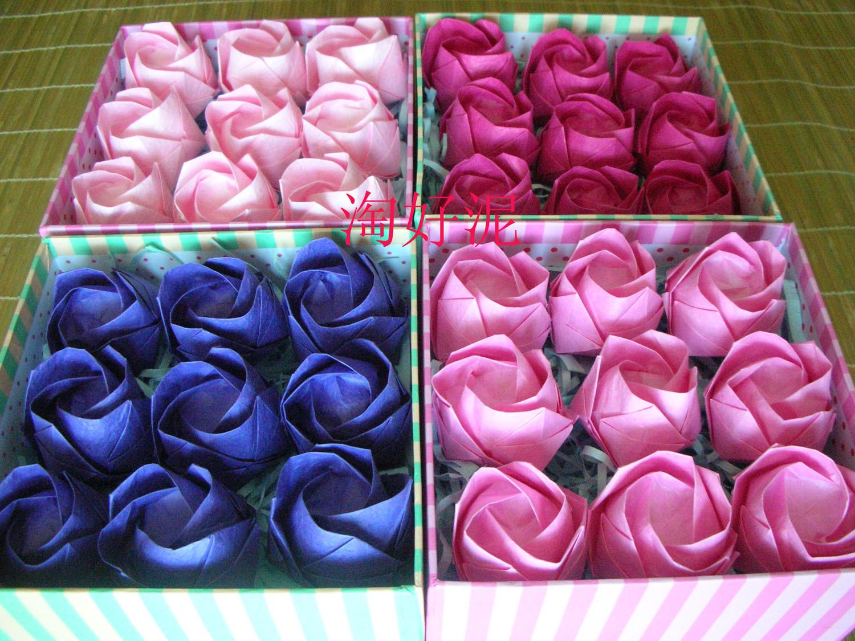 Kawasaki роуз оригами роз конечный продукт kawasaki роуз конечный продукт один цветок цветок 20*20cm сейчас в надичии