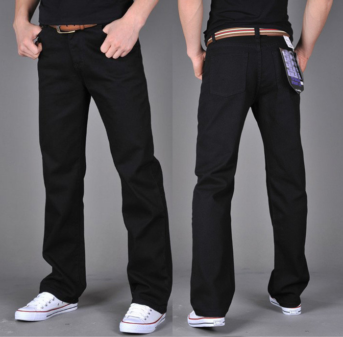 Падение мужчины XL Брюки мужские джинсы черные мужские брюки, корейской версии брюки прямые брюки случайных прилив