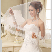 The new bride single yarn petals import flexible pipe The new veil white lace romantic veil