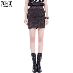 Seven space space OTHERCRAZY autumn new skull old slim Pack hip skirts skirts