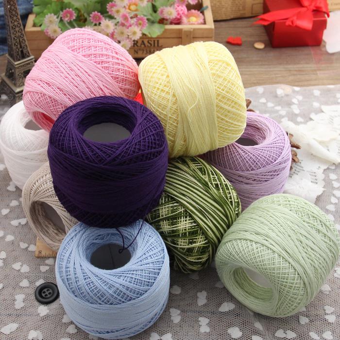 8#蕾丝线/钩针线/钩编线梭编线-纯棉线台布线杯垫线 多色选