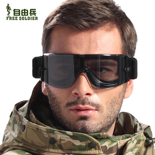 Freedom soldiers bulletproof protective glasses X800 Tactical goggles wind mirror riding glasses dust sand prevention
