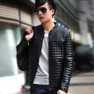 Промытые кожаная куртка Мужская Весна и осень новой корейской версии приток Тонкий PU кожа мужчины случайные куртки мужчины мото-