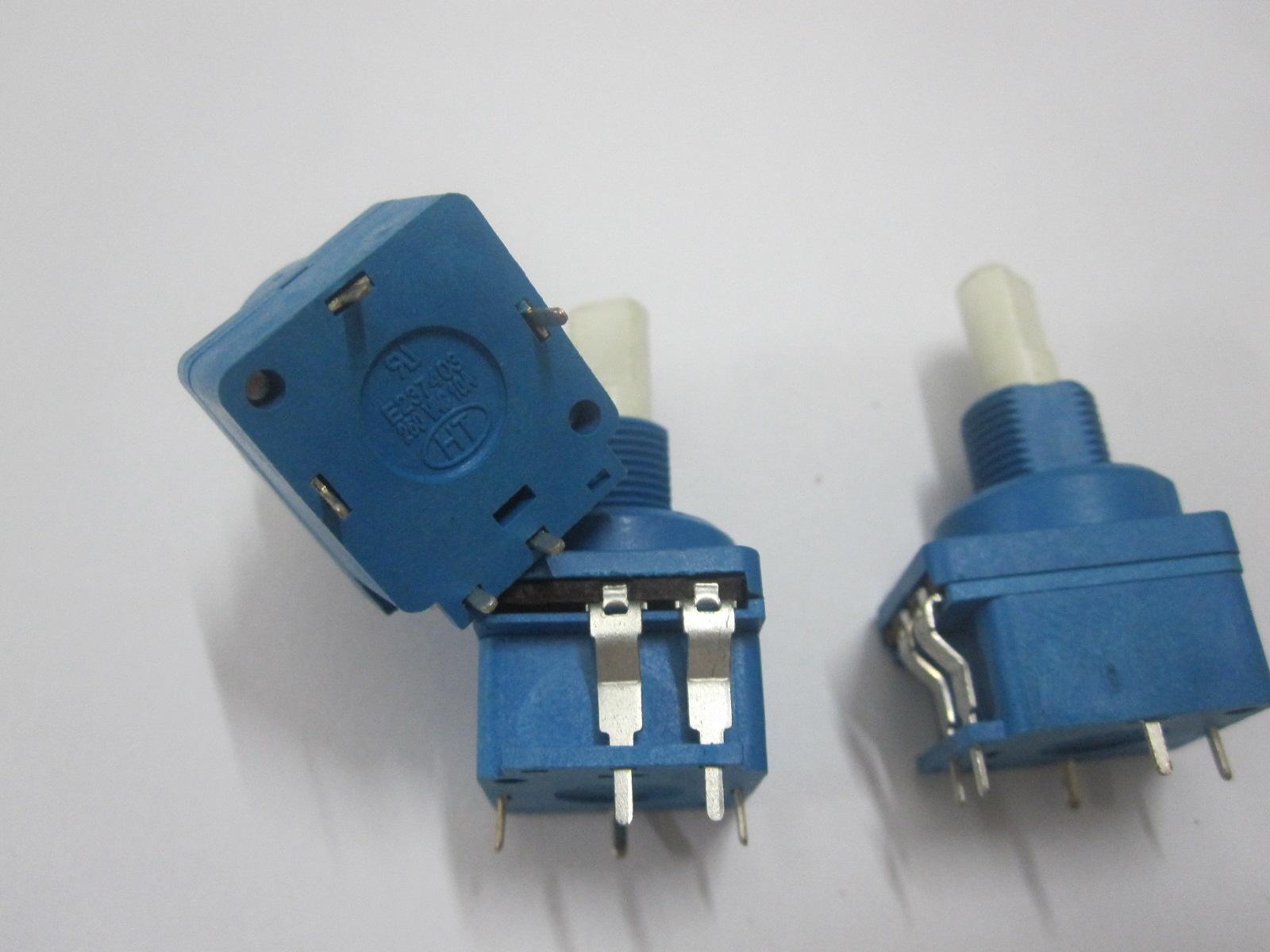 2脚按压开关电位器UL安规认证B500K塑胶柄两脚镇流器调光器灯饰件