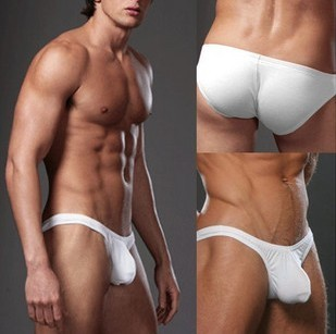 Men s sexy low cut bikini briefs convex pouch