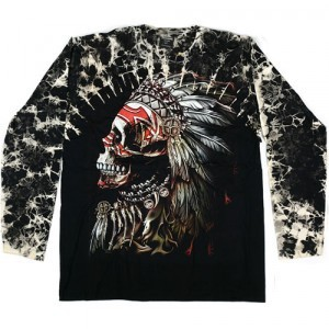 Genuine real shot 100 cotton long sleeved T shirt camouflage skull locomotive TK179