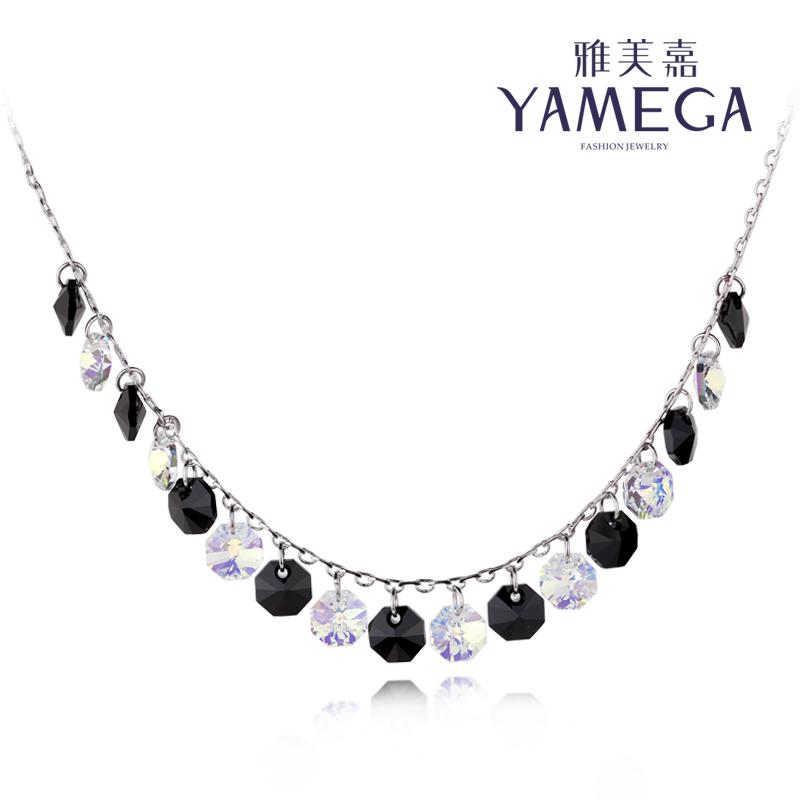 Yameijia кристалл воротник кости ожерелье женщин короткое ожерелье Корейской декоративной цепи Аксессуары ювелирной моды свадебное платье