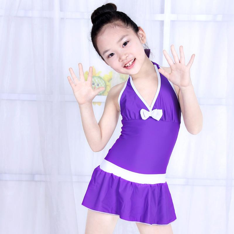 10a381bcff23b Siamese skirt girl Zhongshan University Children's Swimwear Korea cute  girls swimwear 5 6 8 9 12. Loading zoom